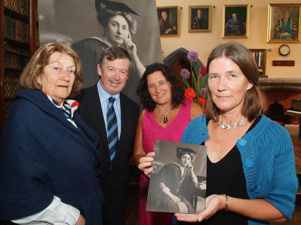 Ceremony at UCC to mark the Centenary of the appointment of Mary Ryan as the first female professor in Ireland.