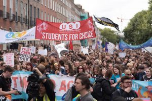 Thousands of Students in Attendance at Dublin March for Choice