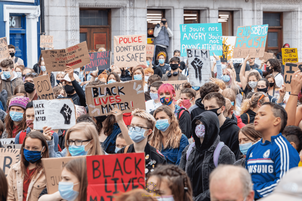 Protesters gather on Grand Parade for second Black Lives Matter demonstration in Cork